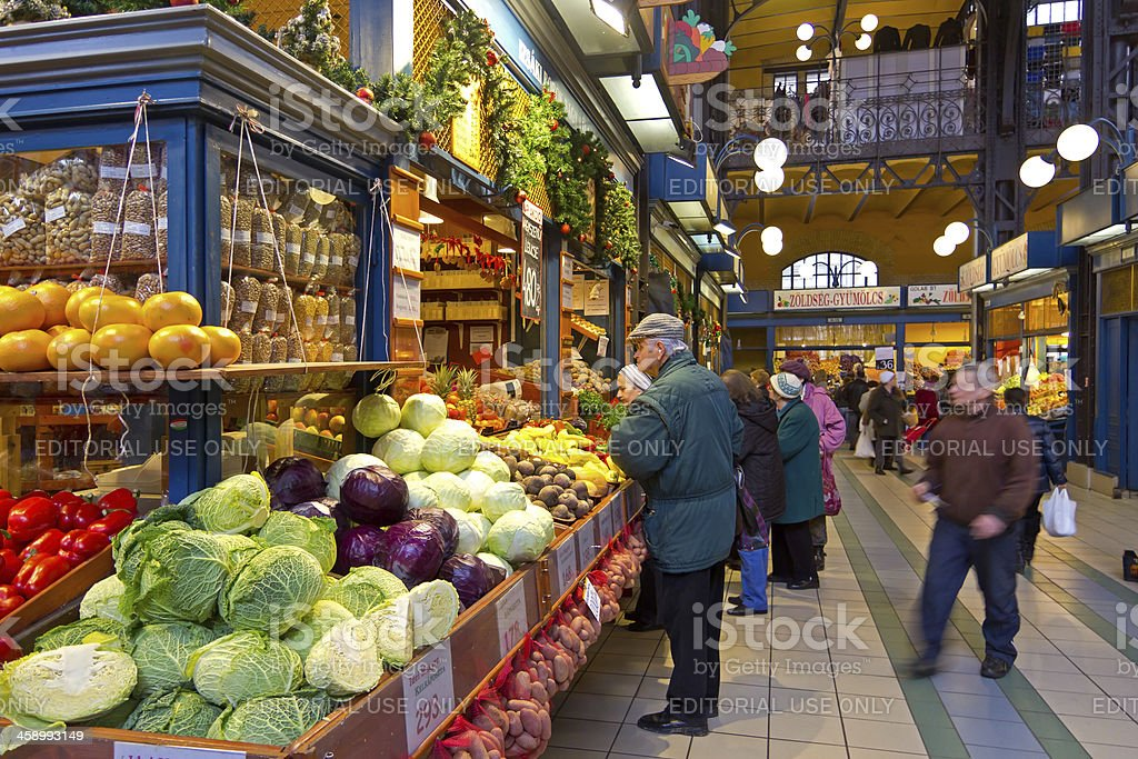 In the market hall, Budapest royalty-free stock photo