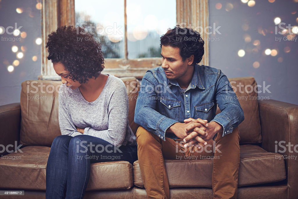 In the middle of an argument... stock photo