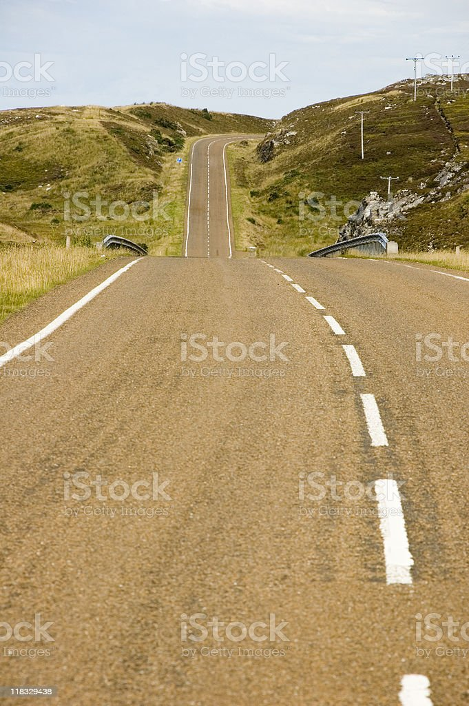 In the middle of nowhere royalty-free stock photo