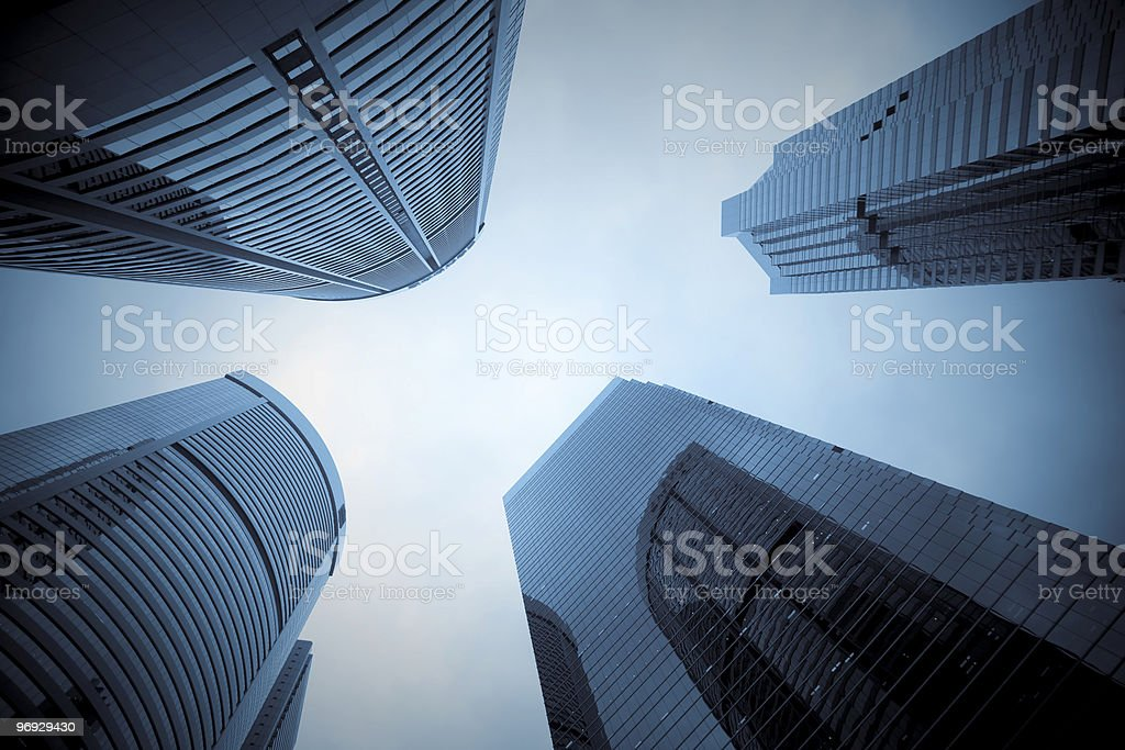 In the middle of Skyscrapers royalty-free stock photo
