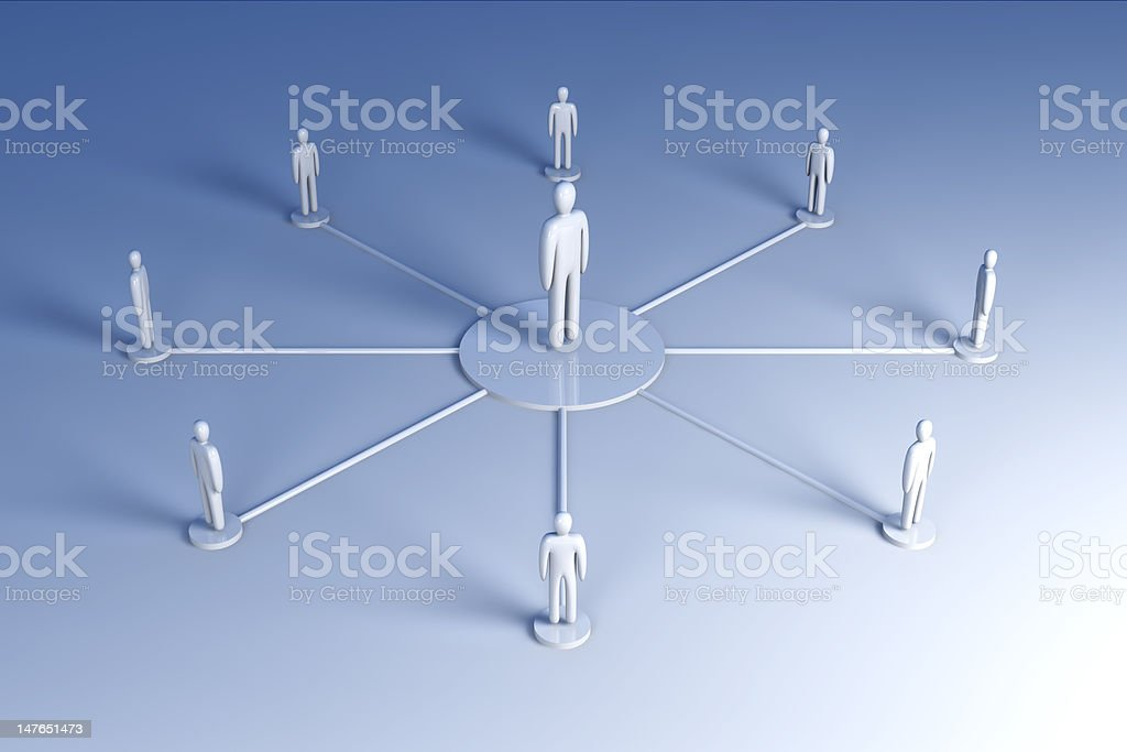 In the middle royalty-free stock photo