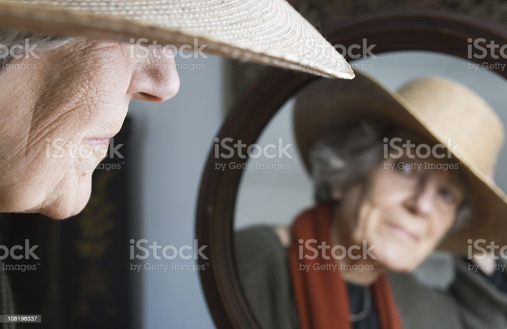 In the Mirror. royalty-free stock photo