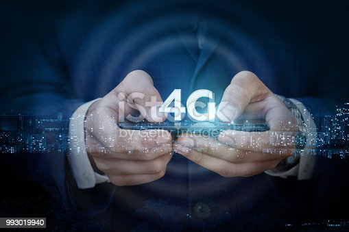 917493152istockphoto In the mobile of a 4g businessman . 993019940