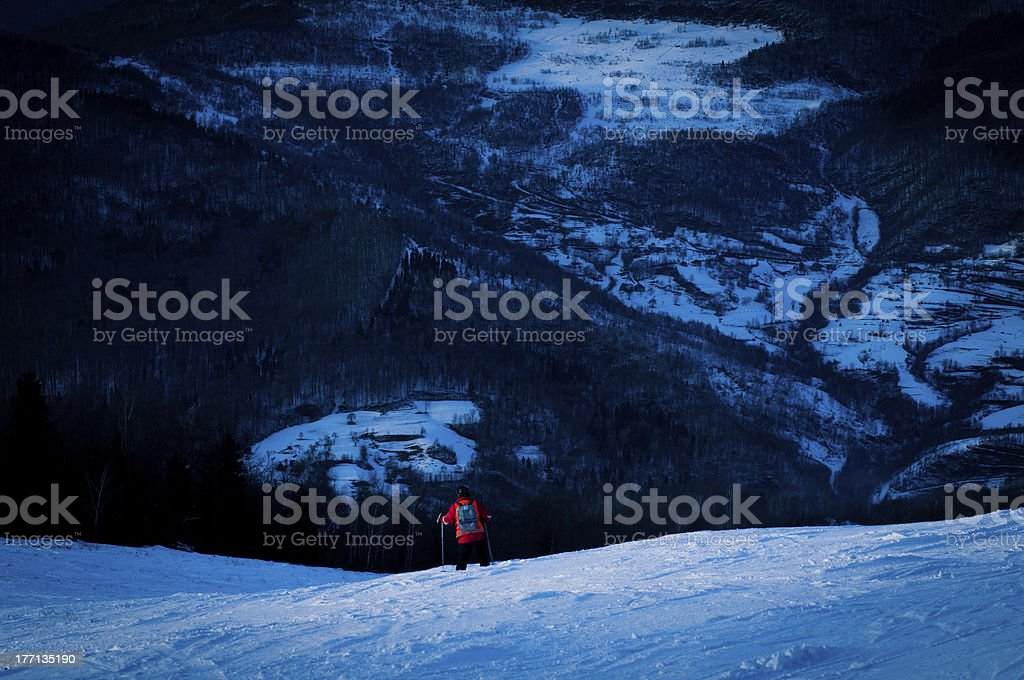 in the mountains at dusk royalty-free stock photo