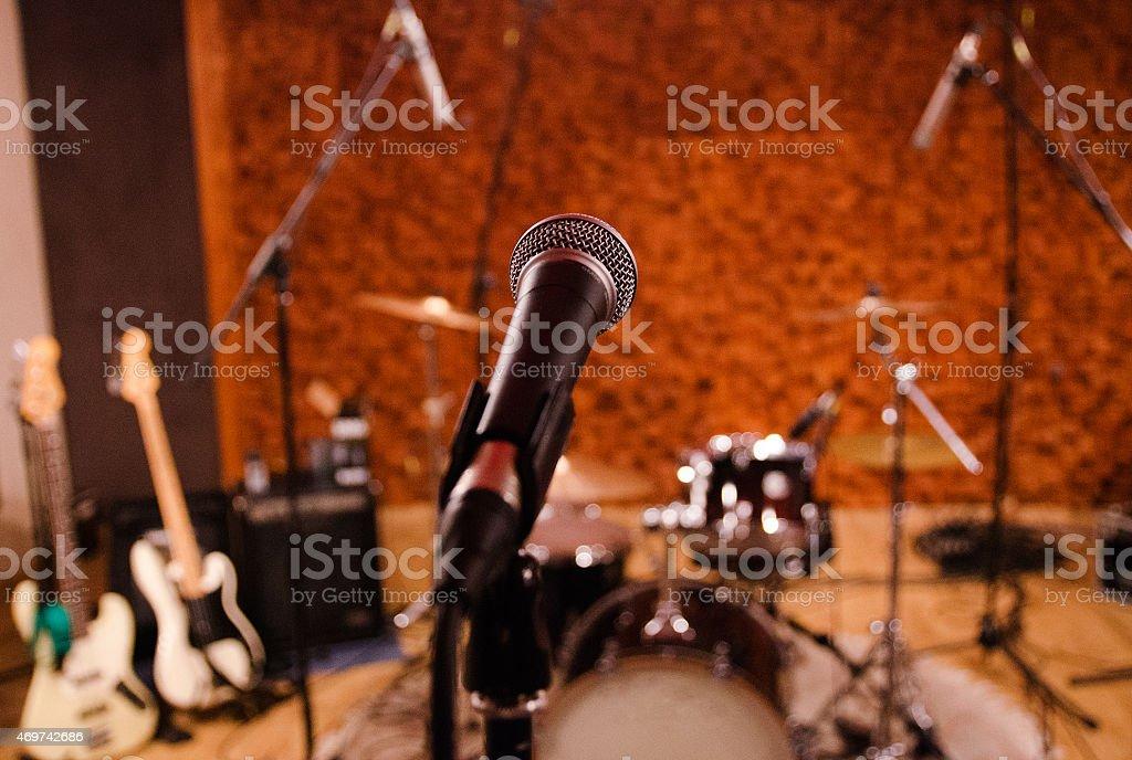 In the music recording studio stock photo