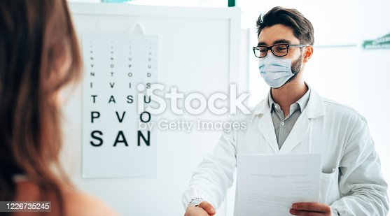 in the office of the optometrist
