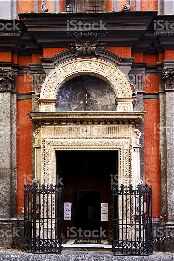 in the old church naples royalty-free stock photo