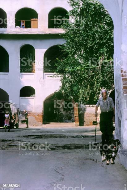 Foto de No Antigo Pátio Do Edifício Residencial No Estilo Oriental Na Cidade De Astracã Rússia e mais fotos de stock de Adulto