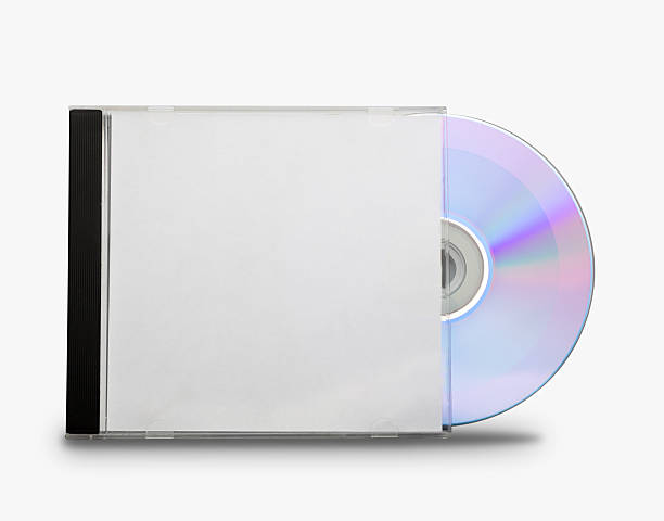 CD in the open box stock photo