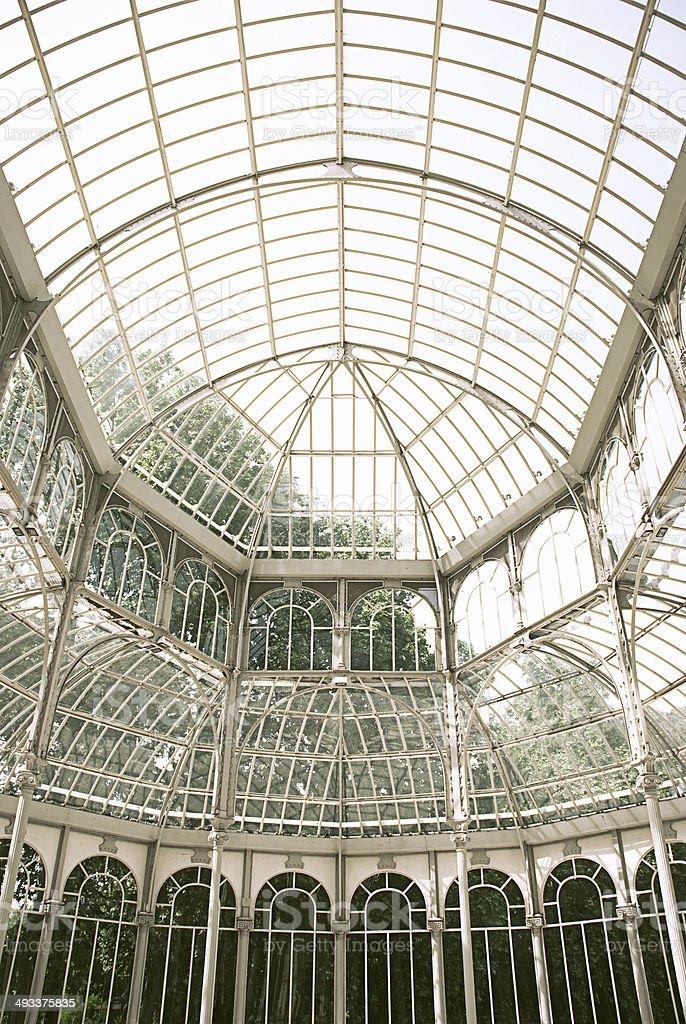In the Palacio de Cristal, Madrid stock photo