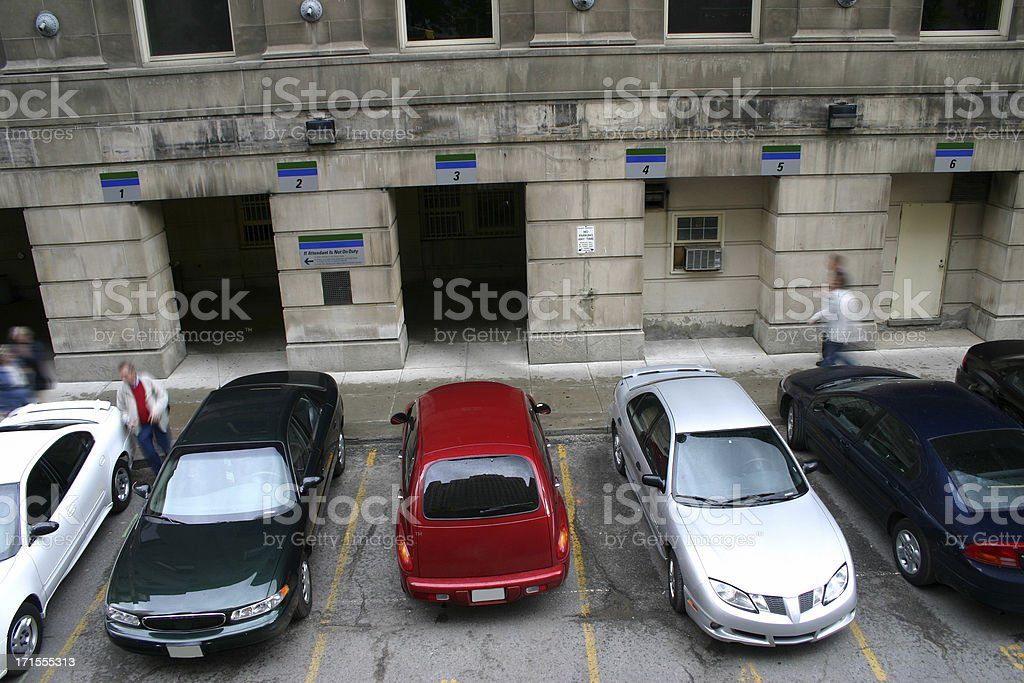 In the Parking Lot royalty-free stock photo