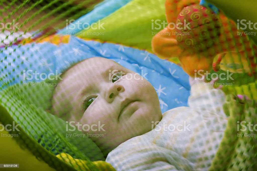 In the playpen stock photo