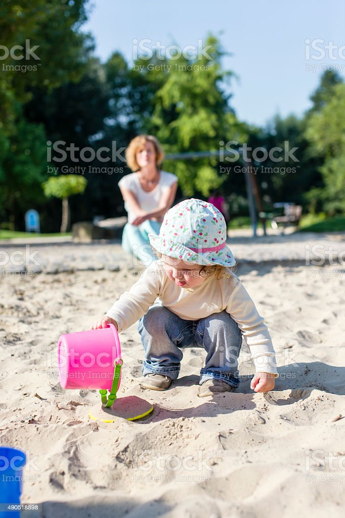 In the sandbox stock photo