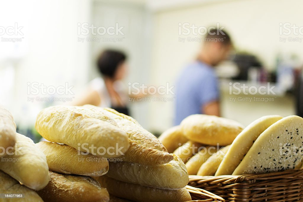 In the sandwich shop royalty-free stock photo