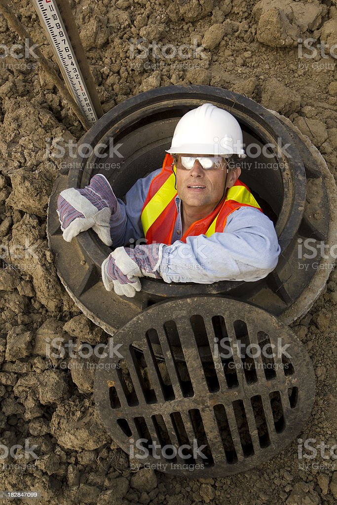 In the Sewer stock photo