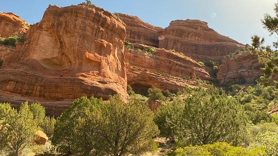 hiking the red rocks of sedona, az - usa