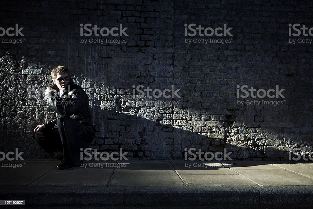 in the shadows stock photo