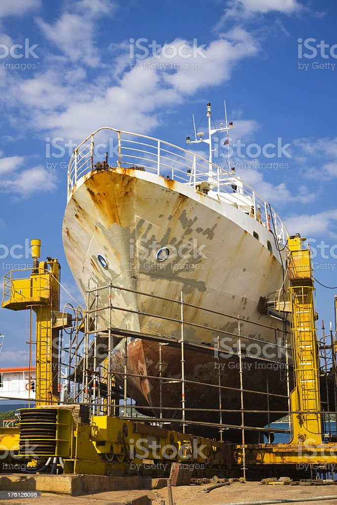 in the shipyard royalty-free stock photo