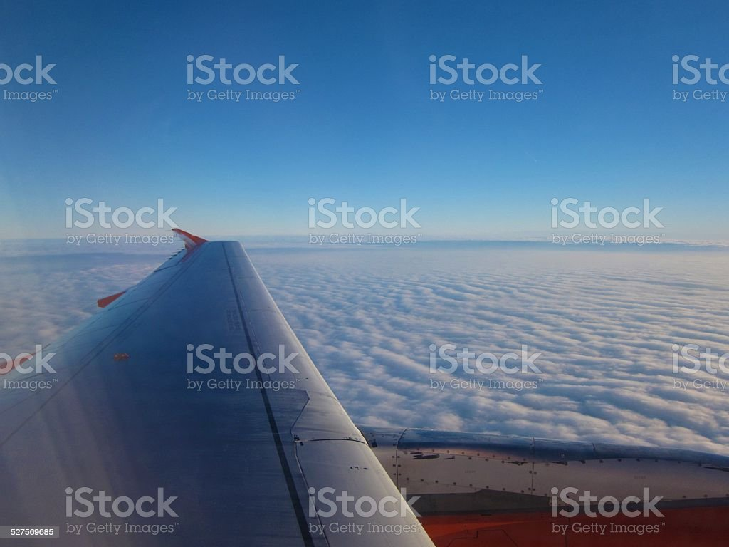 In the Sky. Over clouds stock photo