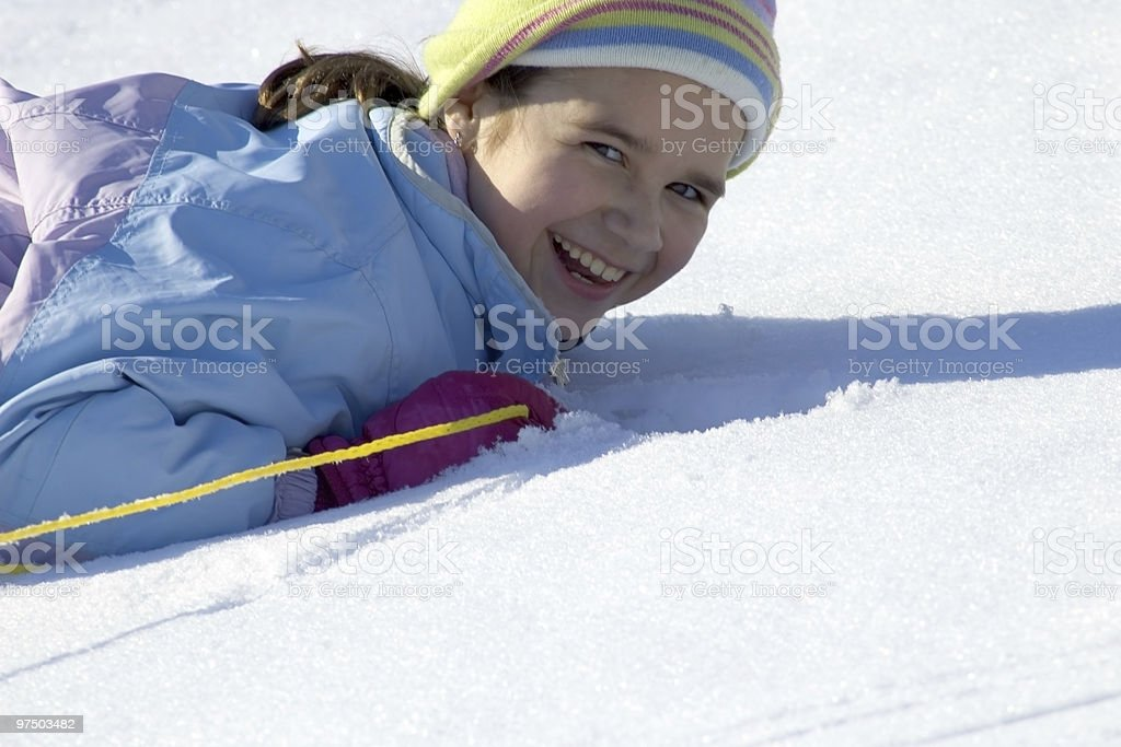 In the snow royalty-free stock photo
