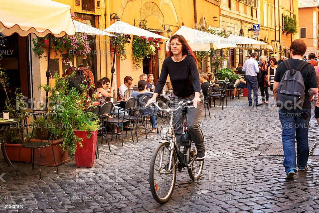In the streets of Roma Italia stock photo