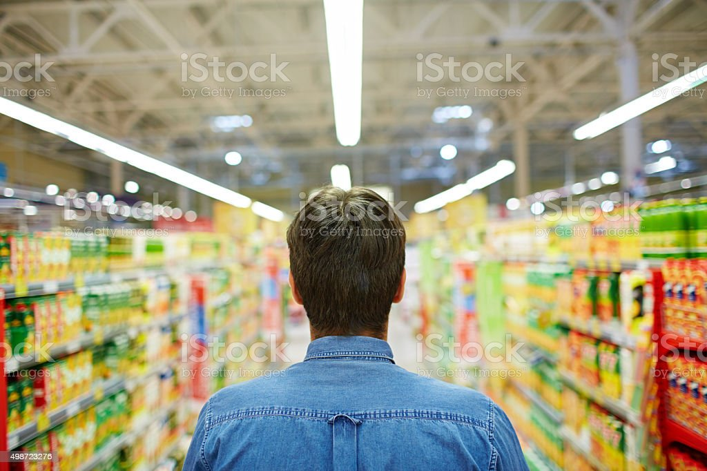 In the supermarket stock photo