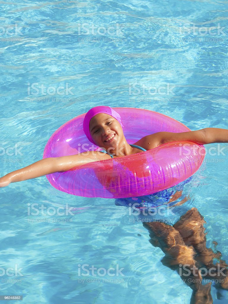 In the swimming pool royalty-free stock photo