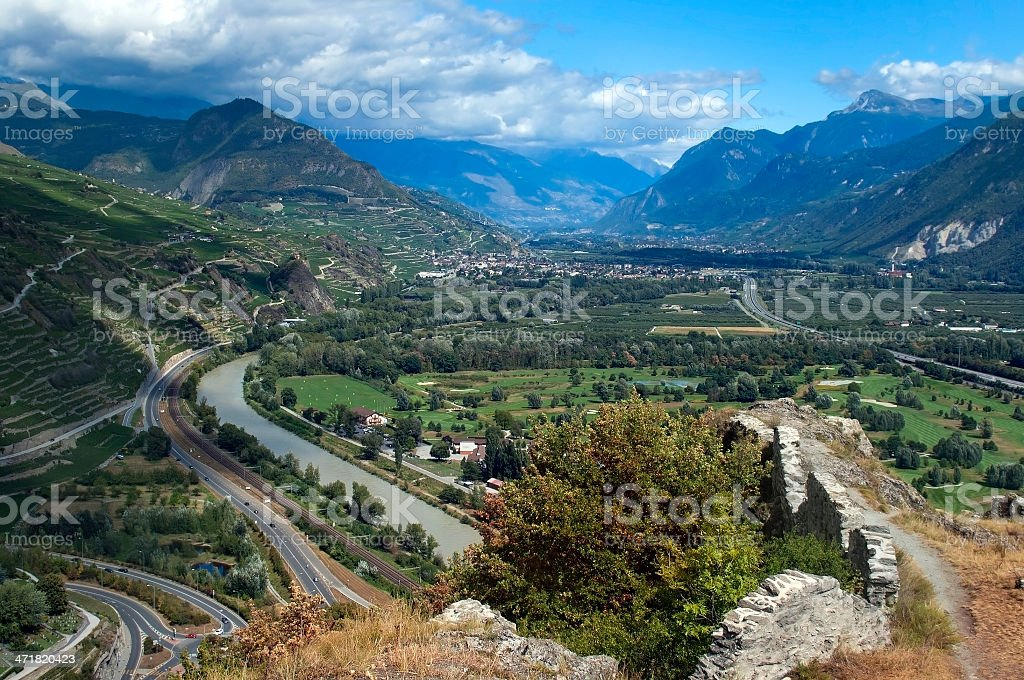 in the Swiss Alps royalty-free stock photo