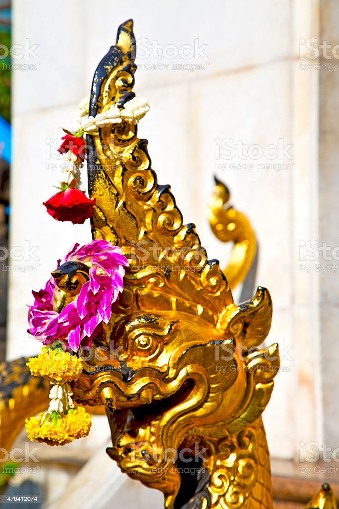 in the temple bangkok asia   thailand abstract cross stock photo
