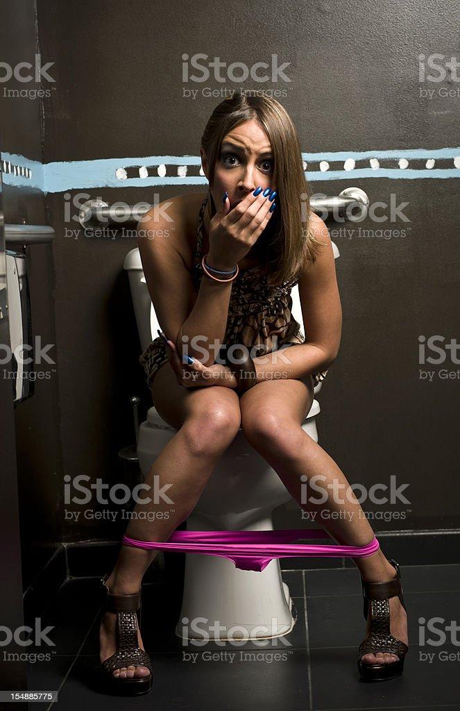 In the toilet stock photo
