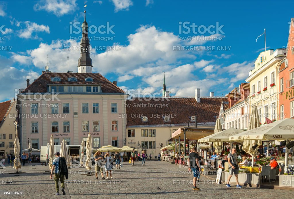 In the town hall square. royalty-free stock photo
