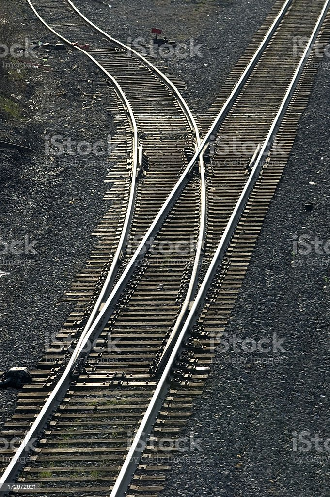 Y in the track royalty-free stock photo