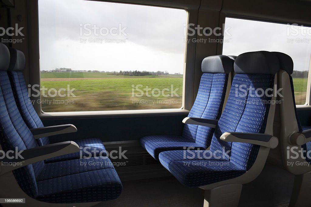 In the train stock photo