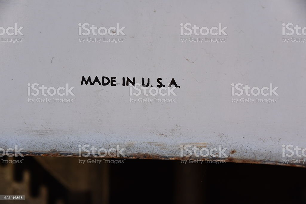 MADE in the USA sign stock photo