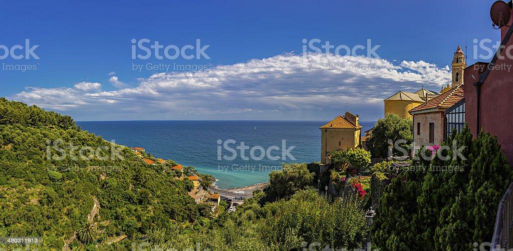 Villaggio di Cervo, Riviera italiana, Ligury, Italia - foto stock