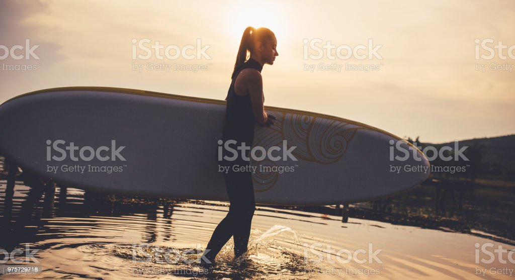 Im Wasser  - Lizenzfrei Abenddämmerung Stock-Foto