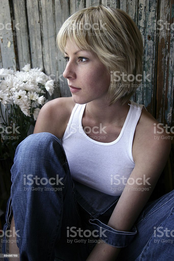 In thought royalty-free stock photo
