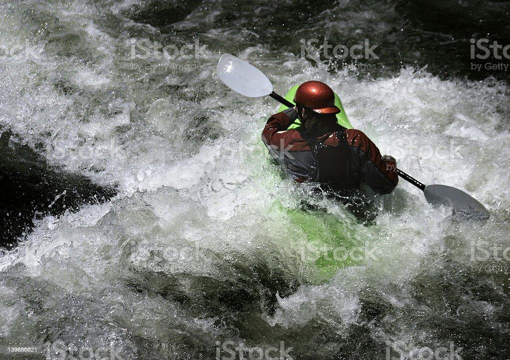 In Turbulent Water stock photo