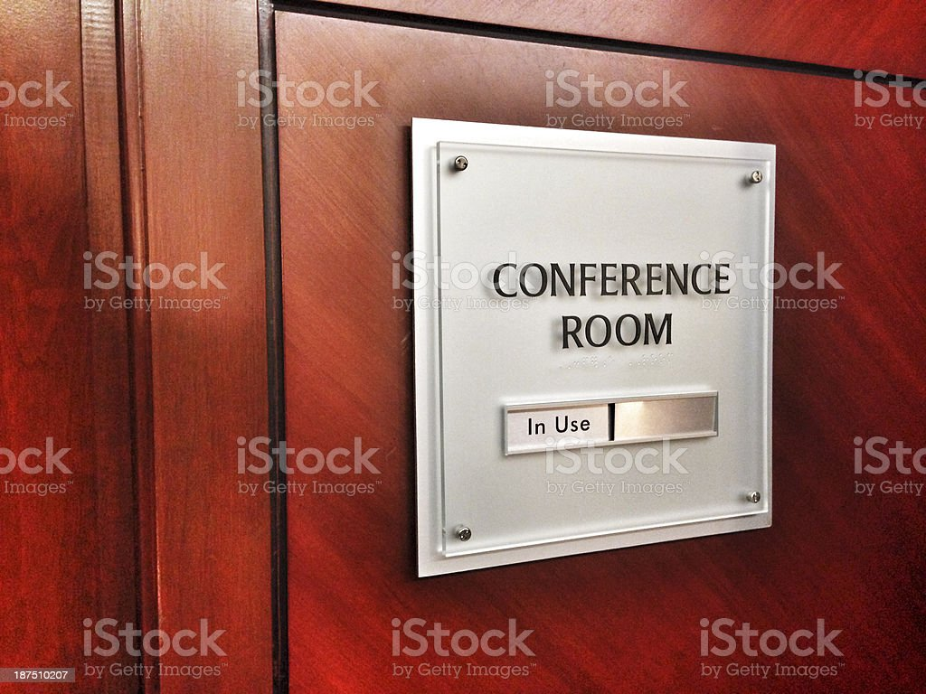 in use conference room sign stock photo more pictures of board