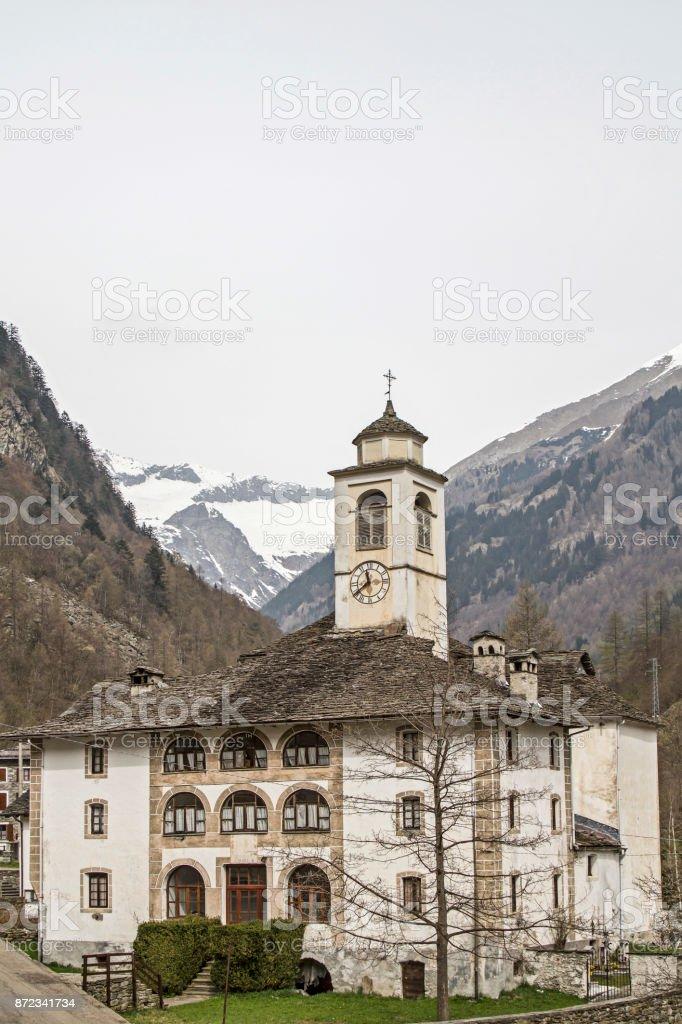 in Val Sermenza stock photo