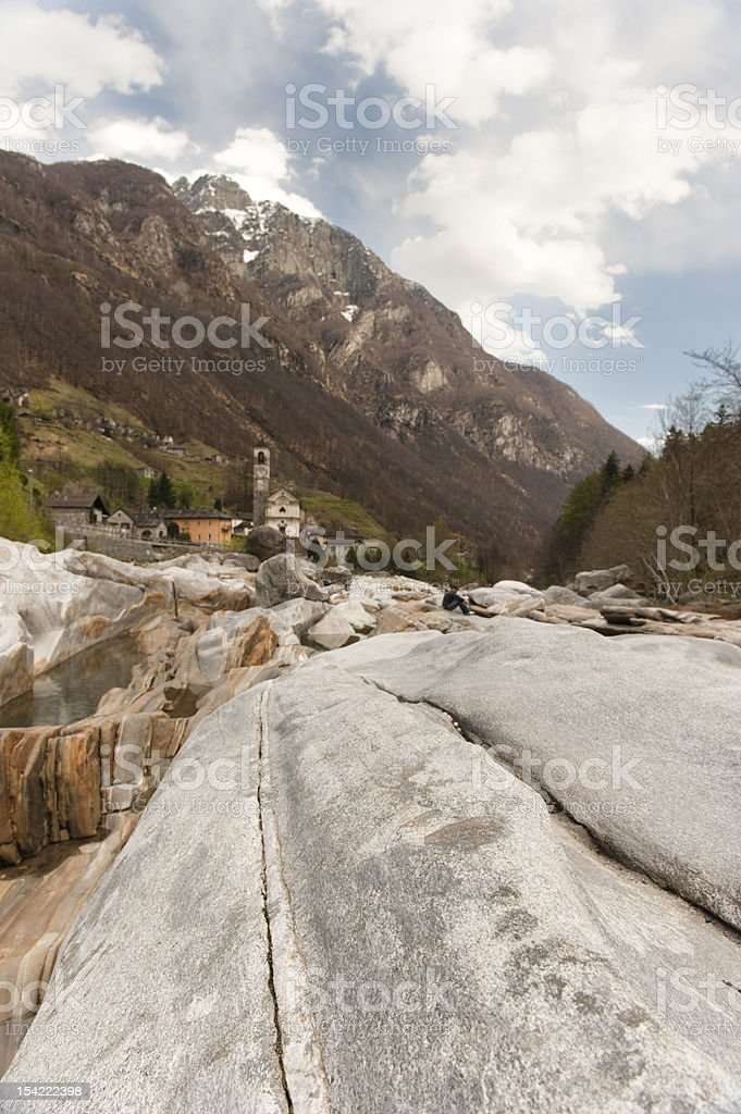 In Valle Verzasca - other position royalty-free stock photo