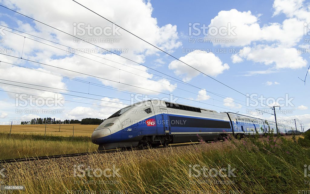TGV in wind stock photo