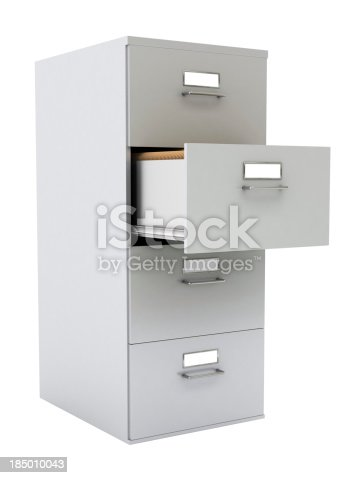 istock 3D inage of a gray file cabinet 185010043