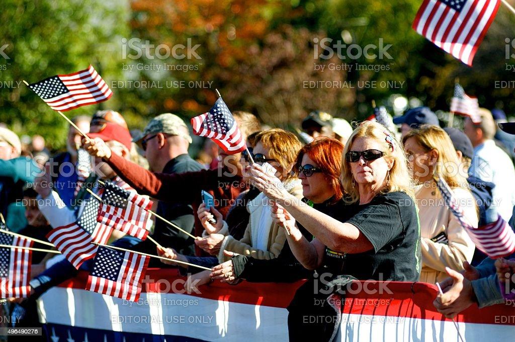 Inaugural Philly Veterans Parade stock photo