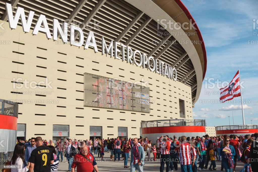 MADRID,SPAIN-SEPTEMBER 16: Inauguration of the New Stadium of Atlético de Madrid Wanda Metropolitano, on September 16 2017 in Madrid, Spain. stock photo