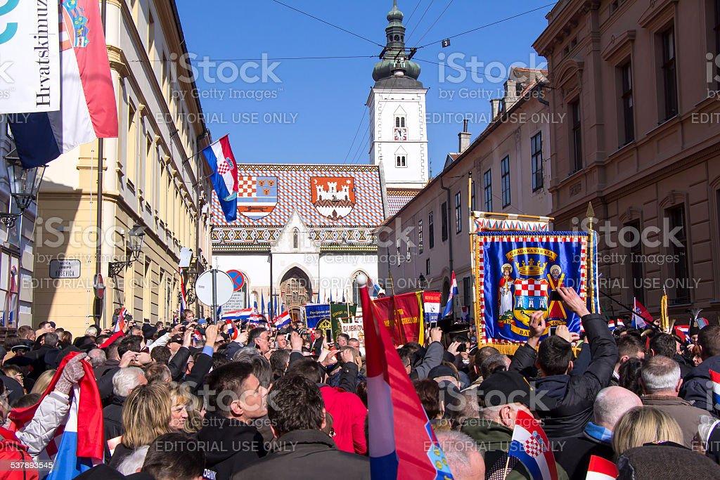 Inauguration of the President of Croatia stock photo