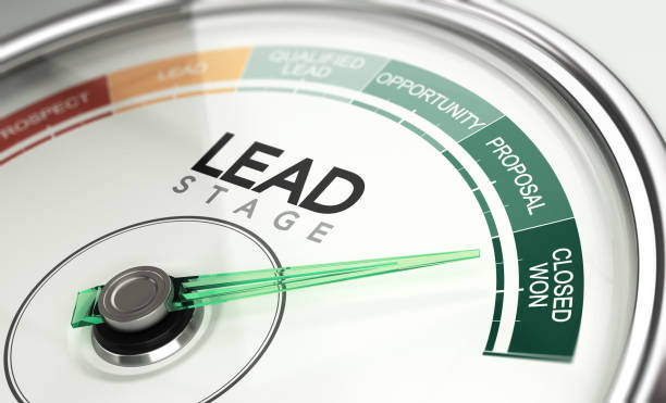 Inbound Marketing and Sales Process Concept, Leads Stage stock photo