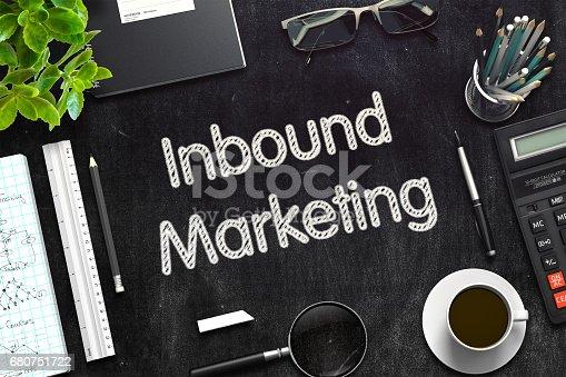 istock Inbound Marketing on Black Chalkboard. 3D Rendering 680751722
