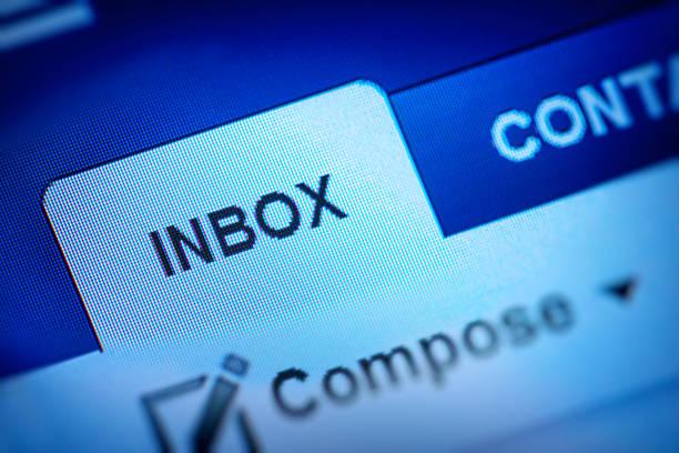 inbox icon stock photo