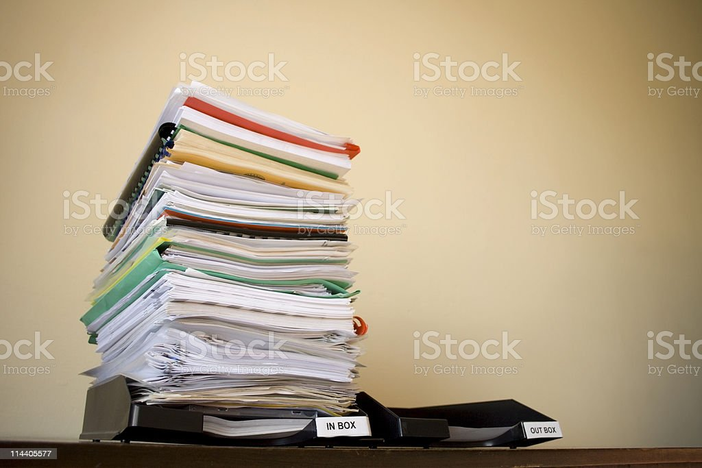 Inbox / Outbox stock photo